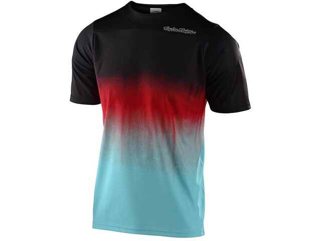 Troy Lee Designs Skyline Jersey Korte Mouwen Heren, stain'd black/turquoise